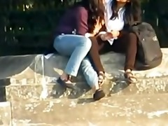 indian - lesbian babes smooch publicly