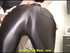 mouth drilled lycra clad oriental toy