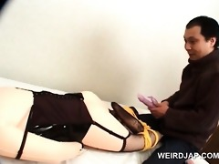 impure oriental guy leaking wax on his plastic
