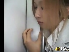 hot japanese office worker acquires screwed