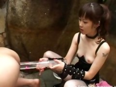 serf experiences a painful enema from mistress