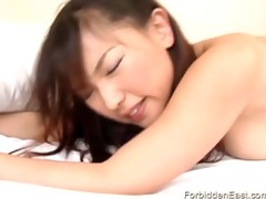hot asian babe is bent over for a admirable hard