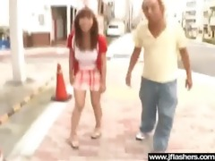 flasher hawt japanese hotty get gangbanged