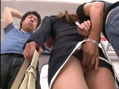 beautiful japanese sweetheart have sex in train