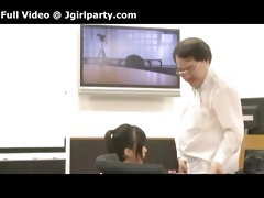 japanese boss films himself with his excited