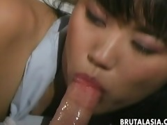 lustful japanese gal takes plump cocks in her