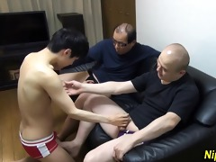 japanese twink strokes and sucks knobs