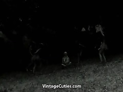 tribal dancing of stripped indian girls
