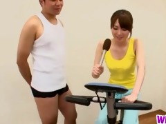 slender playgirl fucking her gym coach