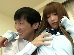 charming sana anju in her school uniform with