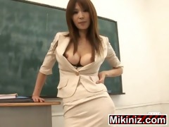 m t cosplay at meid and teacher ai kurosawa, dark