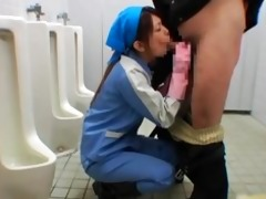oriental maintenance lady cleans wrong part11