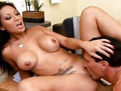 breasty asian secretary acquire a pounder on her