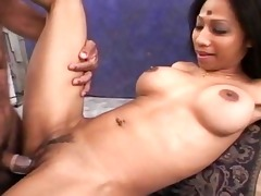 lustful indian wife playing with a inflexible