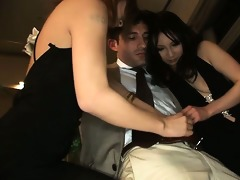 slutty japanese hotties show a lascivious
