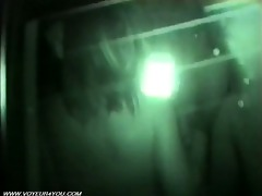 excited couples sex inside of darksome car