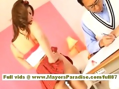 risa tsukino oriental doll in sexy uniform shows