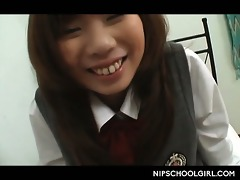 jap legal age teenager lazily undressed of school