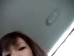 hirsute japanese masturbate in car