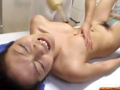oriental hotty drilled with toy fingered by 2