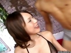 yuri kousaka takes cumshots at the one and the