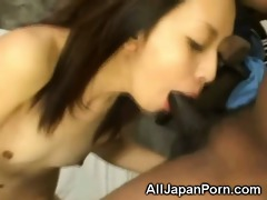 oriental gags on dark cocks!