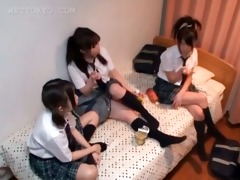 oriental legal age teenager schoolgirls playing