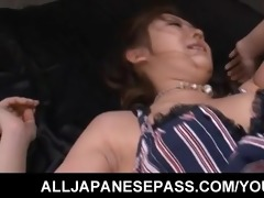 japanese karin tsubaki has her furry fur pie