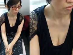 older oriental mother i - down blouse riding