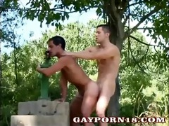 youthful twinks risky outdoor anal fucking