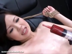 japanese slavery sex - pour threesome semen over