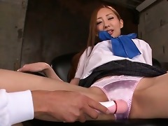 erena aihara has her fascinating wet crack toyed