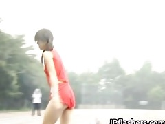 free jav of oriental amateur in bare track part1