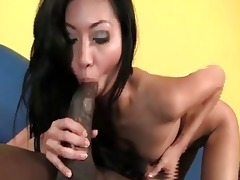 hot asian princess rides giant darksome snake