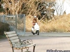 free jav of japanese flasher receives threesome