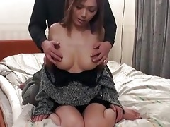 cute japanese in a motel room