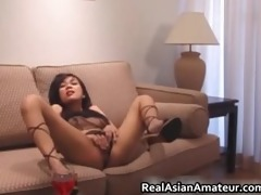 foxy oriental hottie dildoing her slippery part1
