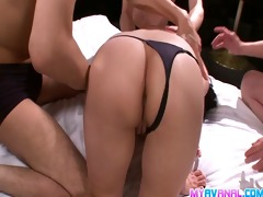 nene foursome ends with double penetration and a