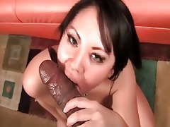 oriental tina lee takes a huge black weenie from