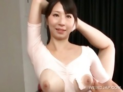 hot boobed asian gymnast teased in a torn body