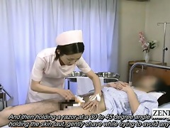subtitled medical cfnm handjob spunk fountain