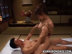 tempting asian playgirl in thraldom receives
