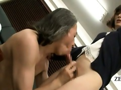 subtitled bottomless japanese newhalf teacher oral