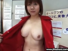 japanese angel flashing in public and banging