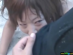 outdoor kinky japanese cutie acquire screwed hard