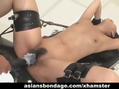 oriental chick bond and fuckd by a fucking machine