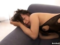 bunko kanazawa in fishnet perverted act here