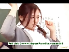 meisa hana breasty japanese teacher at school