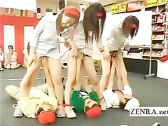 japan employees play weird outlandish group