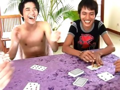 oriental twinks undress poker